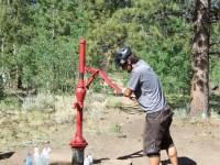 Pumping water at Buffalo Springs