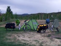 We finally made the campsite, no thanks to the worst headwind of all time