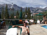 A Pina Colada by the pool made us forget the 6000 feet climb, almost!